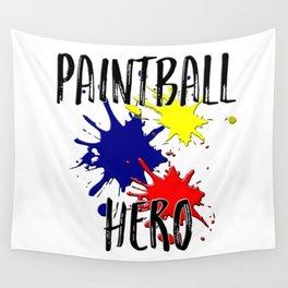 Paintball Hero Wall Tapestry