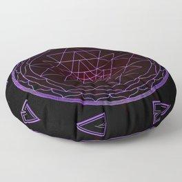 Ultraviolet Sri Yantra Floor Pillow