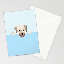 peeking pup. Stationery Cards