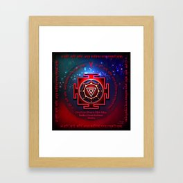 Kali Yantra with the Great Fifteen-Syllable Mantra Framed Art Print