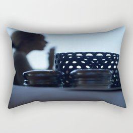 breakfast at Tiffany's in blue Rectangular Pillow