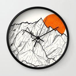 The orange sun Wall Clock