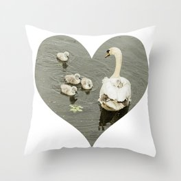 Mother Swan I Throw Pillow
