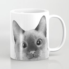 Siamese sneak-a-peek Coffee Mug