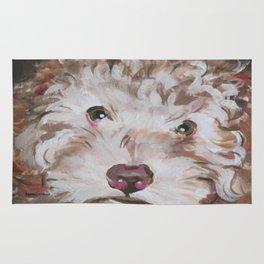 Bichon Poodle Cocker Mix Contemporary Pet Portrait Rug