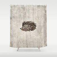hedgehog Shower Curtains featuring Hedgehog by Mr and Mrs Quirynen