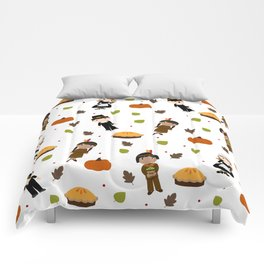 Pilgrims and Indians pattern - Thanksgiving Comforters