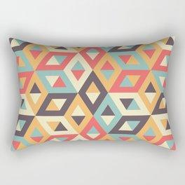 Pastel Geometric Pattern Rectangular Pillow