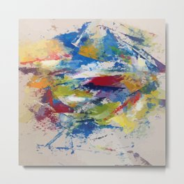 Abstract Oils Metal Print