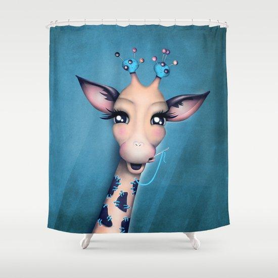 Pin Cushion Giraffe by mina_burtonesque