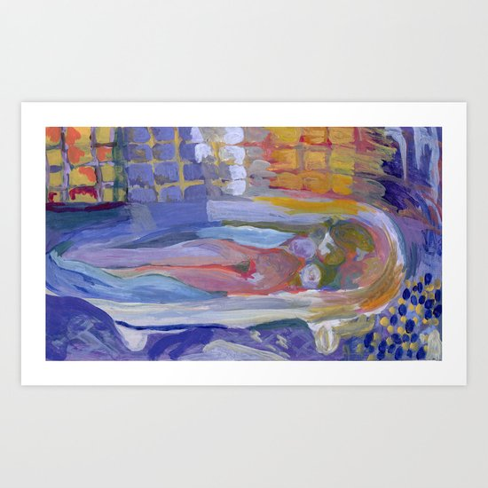 Study of Pierre Bonnard's Nude in the bath Art Print