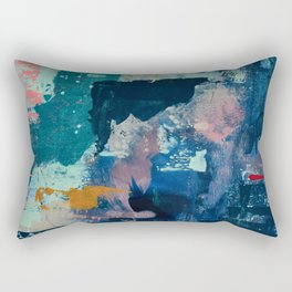The Peace of Wild Things: a vibrant abstract piece in a variety of colors by Alyssa Hamilton Art Rectangular Pillow