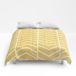 Yellow Chevron Comforters