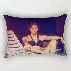 Night at the pool Rectangular Pillow
