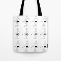 skeleton Tote Bags featuring skeleton by Astro Nascha