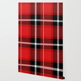 Red + Black Plaid Wallpaper