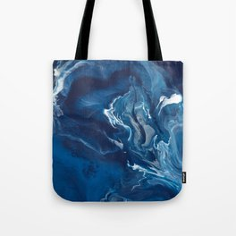 """Color Commentary #5: """"Undertow"""" (Blue & Grey) [Philip Earls] Tote Bag"""