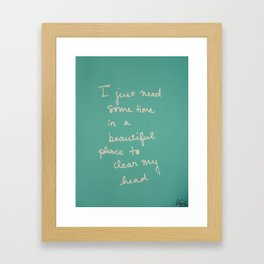 Time in a Beautiful Place Framed Art Print