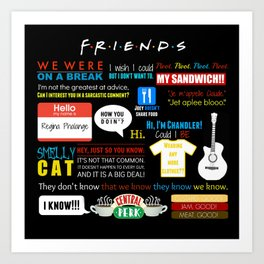 Friends Quote Collage Art Print
