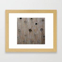 Emerging Mason Bee Framed Art Print