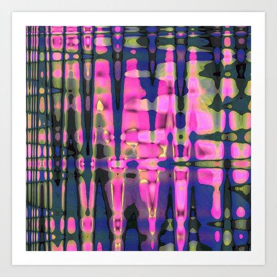 Color streams Art Print