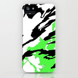 Green and Black iPhone Case