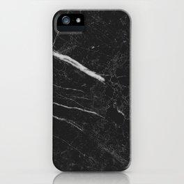 Black Rich Marble iPhone Case