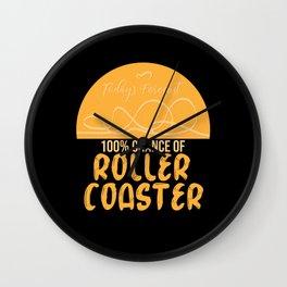 Amusement Parks Roller Coaster Rides Wall Clock