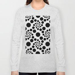 Optical Illusion Dot Spirals Long Sleeve T-shirt
