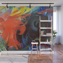 Franz Marc - Fighting forms Wall Mural