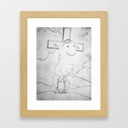 Dino Crucifix Framed Art Print