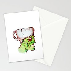 coffee zombie notext Stationery Cards