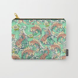 Golden Koi Fish in Pond Carry-All Pouch