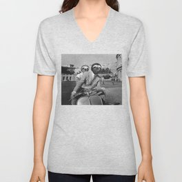 Sloth in Roman Holiday Unisex V-Neck