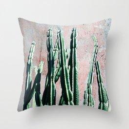 Green Cactos 5 Throw Pillow