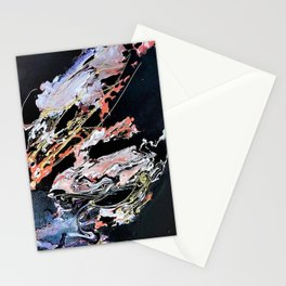 Gold Thread - Mixed Media Pebeo Paint Ceramic Abstract Modern Art, 2015 Stationery Cards