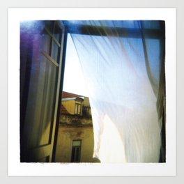 beyond the curtain Art Print