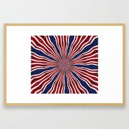 American Flag Kaleidoscope Abstract 1 Framed Art Print