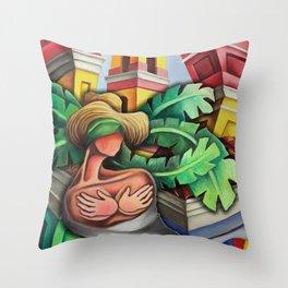 Miguez Art Cuban Mix 1 Throw Pillow