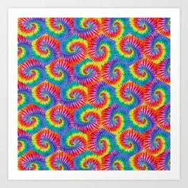 Tie-Dye Hexagon Colorful Pattern Art Print