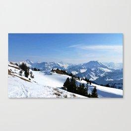 Winter Paradise in Austria Canvas Print