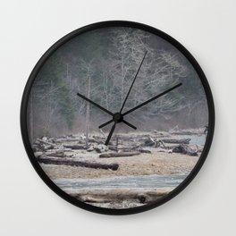 Pachena Driftwood Wall Clock