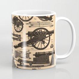 Vintage Illustration of Cannons & Artillery (1907) Coffee Mug