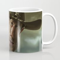 rick grimes Mugs featuring Rick Grimes from 'The Walking Dead'. by Alexander Novoseltsev