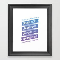 Dream More - Dolly Parton Quote Framed Art Print