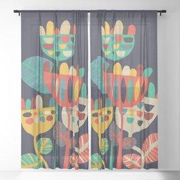 Wild Flowers Sheer Curtain