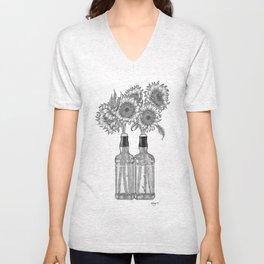 Bottled Sunflowers Unisex V-Neck