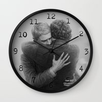 johnlock Wall Clocks featuring John and Sherlock by br0-harry