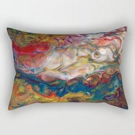 Multicolor Clouds Lava Flow Rectangular Pillow