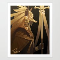 black and gold Art Prints featuring Black & Gold by Cruz'n Creations